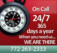 Emergency electrician on call 24/7 - When you need an electrician, we are there for you. 772 263-2333