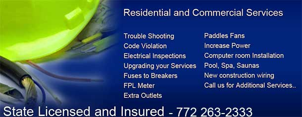 Jensen beach electrician electrical contractor for What is the standard electrical service for residential