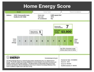 Energy efficiency and the home energy score.